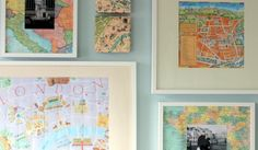 You won't get lost with these simple directions to incorporate maps into your home decor.