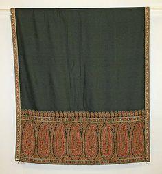 shawl  1815-20  silk,cotton  european