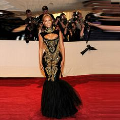 Celebrity Dresses Beyonce Red Carpet Dresses Sexy Sheath Mermaid Black Sequins Dresses Gold Beaded Long Evening Dresses 2015