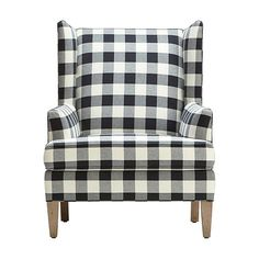Ethan Allen Quot Parker Quot Chair In Black Amp Cream Buffalo Check
