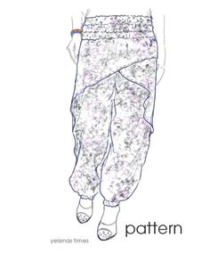 Items similar to Harem Pants Sewing Pattern-Wrap Pants-Aladdin Pants -Baggy Pants-Balloon Pants-Tall Women PantsSewing Instructions - Sizes from Small to X-L on Etsy Pants Pattern Free, Harem Pants Pattern, Jumpsuit Pattern, Boys Harem Pants, Baggy Pants, Loose Pants, Pattern Drafting Tutorials, Sewing Patterns, Lion King Jr