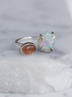 at free people Double Stone Mood Ring