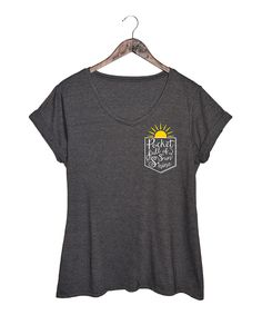 Look at this #zulilyfind! Heather Charcoal 'Pocket Full of Sunshine' V-Neck Tee - Plus by Board Life #zulilyfinds