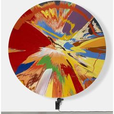 Damian Hirst Spin Painting