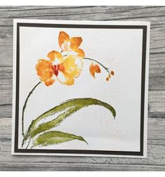 Orchidee Cling Stempel - Penny Black Penny Black Karten, Penny Black Cards, Watercolor Cards, Watercolor Flowers, Handmade Birthday Cards, Handmade Cards, Paper Smooches, Flower Stamp, Watercolour Tutorials