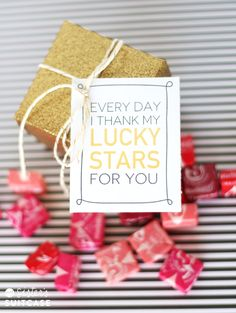 Thank my Lucky Stars Free Printable on My Sister's Suitcase!  Great gift idea for St Patrick's Day!