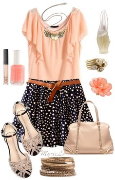 Coral Love & Hearts Outfit <3