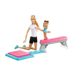 Check out the Barbie® Flippin Fun Gymnast at the official Barbie website. Explore the world of Barbie now! Barbie Doll Set, Mattel Barbie, Mattel Shop, Reborn Dolls Silicone, Young Gymnast, Barbie Website, Accessoires Barbie, Barbie Playsets, Kids