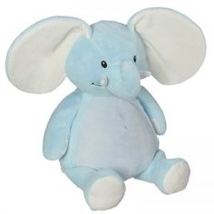 Elliiot Elephant in Blue - Ready for Personalization Embroidery or HTV Embroidery Blanks, Machine Embroidery, Baby Middle Names, Elephant Stuffed Animal, Stuffed Animals, 2nd Birth, Best Friends For Life, Baptism Gifts, Personalized Gifts
