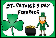 A Pinterest Board full of St. Patrick's Day Freebies!