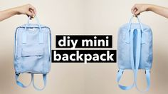 This is a DIY mini backpack, in the popular Fjällräven Kånken style! In this tutorial I'll show you how to make this backpack from scratch and I'll stuff it ...