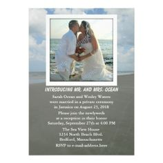 Reception Only Beach Theme Wedding Party Invites