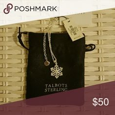 """Sterling Silver Snowflake Necklace Elegant and easy to wear, a delicate snowflake emblem is beautifully sculpted in quality sterling silver and strung along a dainty chain made of the same timeless metal. The soft drop provides an eloquent fit while the light-splitting finish adds a touch of festive sparkle to jazz up any winter look. Get two - one for you, and one as a great gift!  18"""" long 3"""" extender Lobster-claw clasp Sterling silver Imported Talbots   Jewelry Necklaces"""