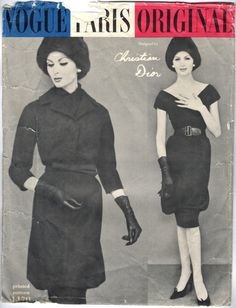 1950s Christian Dior dress and jacket pattern - Vogue 1470
