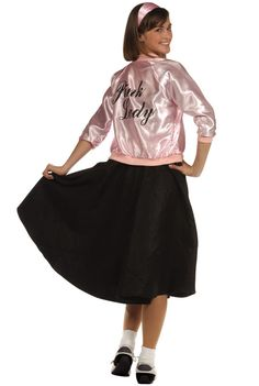 Womenu0027s Economy Greaser Babe Costume | 50u0027s theme | Pinterest | Greaser Pink ladies jacket and Ladies jackets  sc 1 st  Pinterest & Womenu0027s Economy Greaser Babe Costume | 50u0027s theme | Pinterest ...