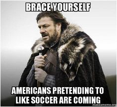 Funny memes about Americans in the World Cup.