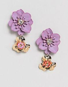 ASOS Floral Drop Earrings