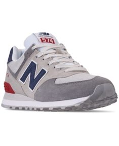 ab68e25ee9f New Balance Men s 574 Varsity Casual Sneakers from Finish Line Men - Finish  Line Athletic Shoes - Macy s