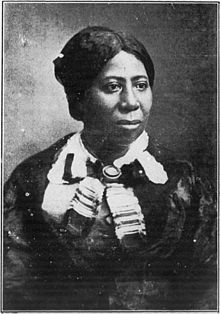 Frederick Douglass' wife Anna Murray Douglass. Although never credited as an editor, Anna helped run Douglass' newspaper while he traveled on speaking engagements to garner support for the antislavery cause.