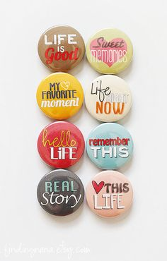 Hello Life Flair Button by findingnana on Etsy, $6.00