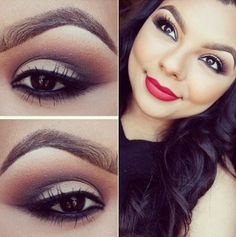 """A beautiful neutral look! Something such as this eye look is great to be paired with a bright peachy or pink lip to bring the color back to your face. Not to mention, the color palette makes your actual eyes sparkle saying, """"I'm awake."""""""