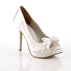 e81e6d713315 £64 Tease Bow Wedding Shoes - Pink By Paradox Peep Toe Wedding Shoes