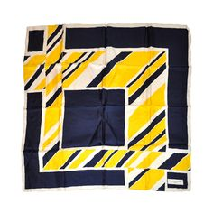 """Bianchini Ferier """"Abstract"""" silk scarf 