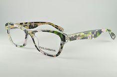 e1f727a6a6d34 Dolce   Gabbana Eyeglasses DG3202 2842 Black Peach Flowers
