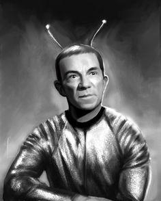 My Favorite Martian Ray Walston portrait, Paul LaSalle on ArtStation at https://www.artstation.com/artwork/nJYbK