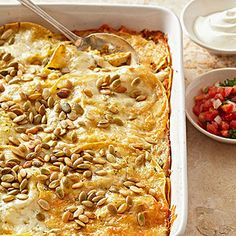 Pumpkin Tortilla Casserole with Chicken From Better Homes and Gardens, ideas and improvement projects for your home and garden plus recipes and entertaining ideas.