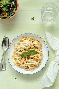 Spaguetti limone parmeggiano {Tallarines con limón y queso parmesano}