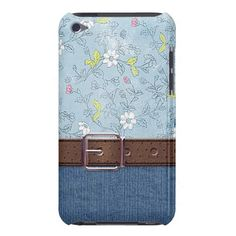 Unique, trendy, stylish, elegant and pretty iPod Touch case. Romantic and beautiful flower and blue jeans denim design. Vintage floral retro design for the hip fashion trend setter or the western cowboy style loving cowgirl. Cute and fun gift for mom's birthday, Mother's day, Christmas, the girly girl, or the woman who wants a classy, chic, original and cool iPod cover. Also for Samsung galaxy S3 and S2, iPhone 3 4 and 5, and Motorola Droid Razr.