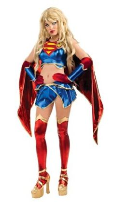 SECRET WISHES SUPERGIRL WOMEN HALLOWEEN COSTUME X-SMALL