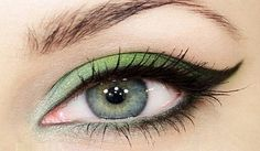 Shades of green wedding eye makeup