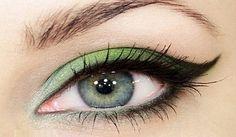 Shades of green wedding eye makeup