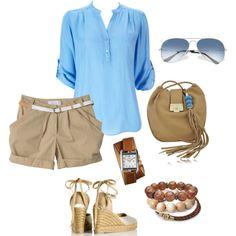 blue & khaki, created by bonnaroosky.polyvore.com