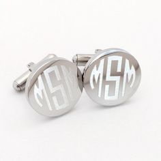 CufflinksMonogrammed Round or Square - Stainless Steel  Thesepersonalized cuff links are perfect #gift for any of the #men on your list. They make great groomsmen orfathe... #accessories #birthday #cufflinks #monogram #monogrammed #personalized #silver ➡️ http://jto.li/bmBte