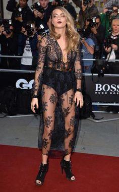 Cara Delevingne  #caradelevingne #cara #dress #redcarpet #celebrity #hot #nipslip #nipple