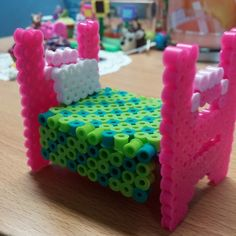 3D Bed perler beads by crafts_with_talia