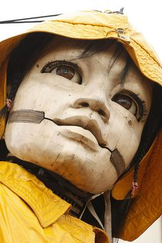 As part of Liverpool's celebrations to mark the anniversary of the sinking of the Titanic, street theatre company Royal de Luxe are performing Sea Odyssey: Giant Spectacular throughout the city. The company's huge puppet Little Girl Giant will walk through north Liverpool as part of a story of love, loss and reunion.