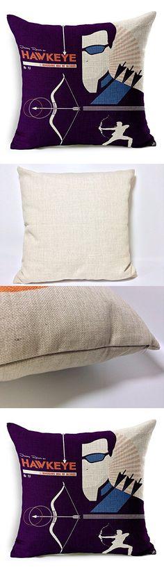 Chicozy Cotton Avengers Alliance Batman Captain America Iron Man Hulk Pillow Cover Ikia Style Sofa Cushion Cover Square Home Decration Pillowcase 17.7inch x 17.7inch