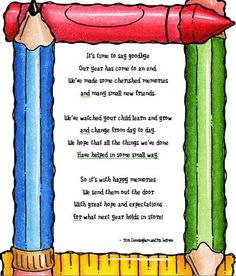 Super cute poem for the end of the year.