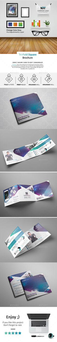 Corporate Trifold Square Brochure 08 — Photoshop PSD #flyer #social • Available here → https://graphicriver.net/item/corporate-trifold-square-brochure-08/16369521?ref=pxcr