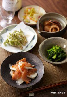Japanese food / 菜の花のからし和え 他