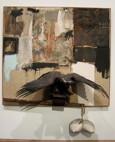 Enjoyed seeing Bob Rauschenberg's Canyon, originally from the Ileana Sonnabend Collection at MoMA today. Modern Artists, Contemporary Artists, Robert Rauschenberg, New York Museums, Whitney Museum, New York Art, Pictures Of The Week, Arts Ed, Art Series