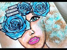Art Journal Mixed Media Tutorial | Wonderland - YouTube