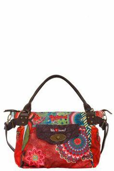 Desigual Women's Macbee Seduccio bag. Wear it or carry it by the short handles, the strap is detachable. Zip fastening. It measures: 29x22x14 cm. / 11.31