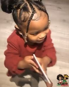 Black Baby Girl Hairstyles, Girls Natural Hairstyles, Kids Braided Hairstyles, African Hairstyles, Braids For Kids, Girls Braids, Toddler Braids, Braids Easy, Curly Hair Styles