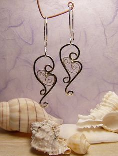 Earrings, Russian Filigree I