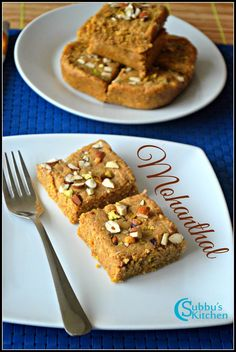 Jaggery Recipes, Methi Recipes, Indian Dessert Recipes, Indian Sweets, Indian Recipes, Indian Foods, Indian Dishes, Burfi Recipe, Chaat Recipe